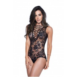 Mapale Black Lace Up Teddy